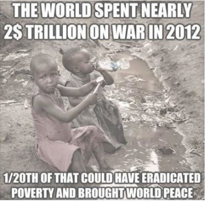 2 trillion on war could have ended hunger truth photo