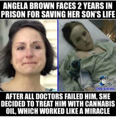 Angela Brown about to go to jail truth photo