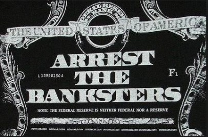 Arrest the Bansksters silver photo