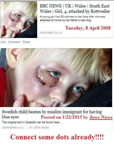 BBC Jew News little blue eyed girl truth photo