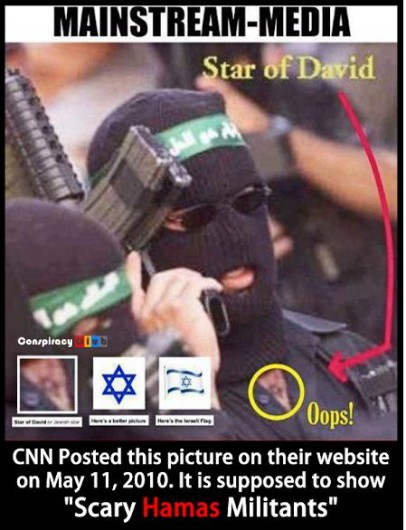 CNN star of david oops photo