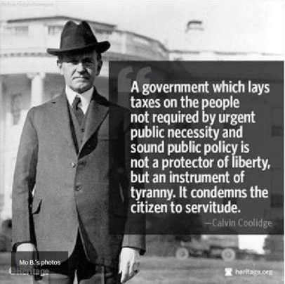 Calvin Coolidge Tax Quote photo