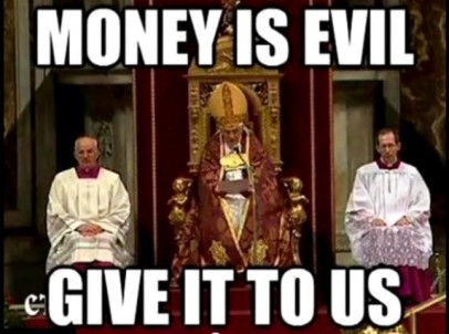 Money is Evil Give it To Us funny photo