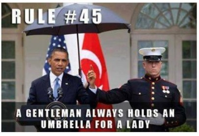 a gentalman always hold umbrella for lady funny photo