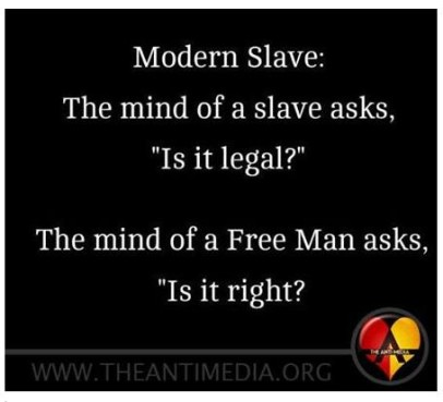 a slave asks is it legal truth photo