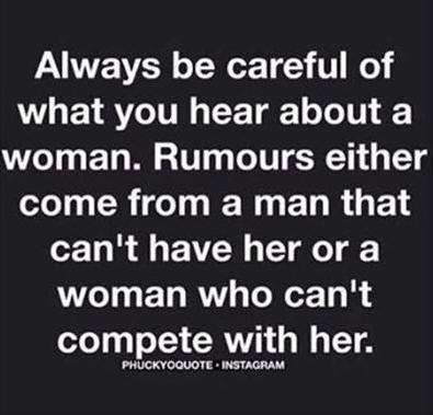 careful what you hear about women truth photo