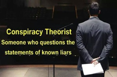 conspiracy theorist is on ewho questions known liars photo