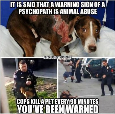 cops kill pets every 98 minutes truth photo