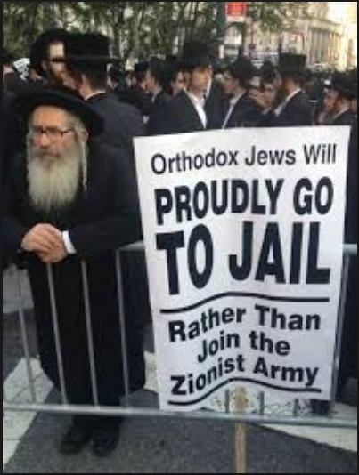 jew would rather go to jail than join israeli army thruth photo