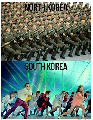 north korea south korea funny truth photo