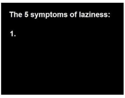 symptoms of laziness funny photo